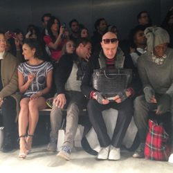 Skingraft's front row included Just Jared's Jared Eng, Kat Graham and J. Alexander.