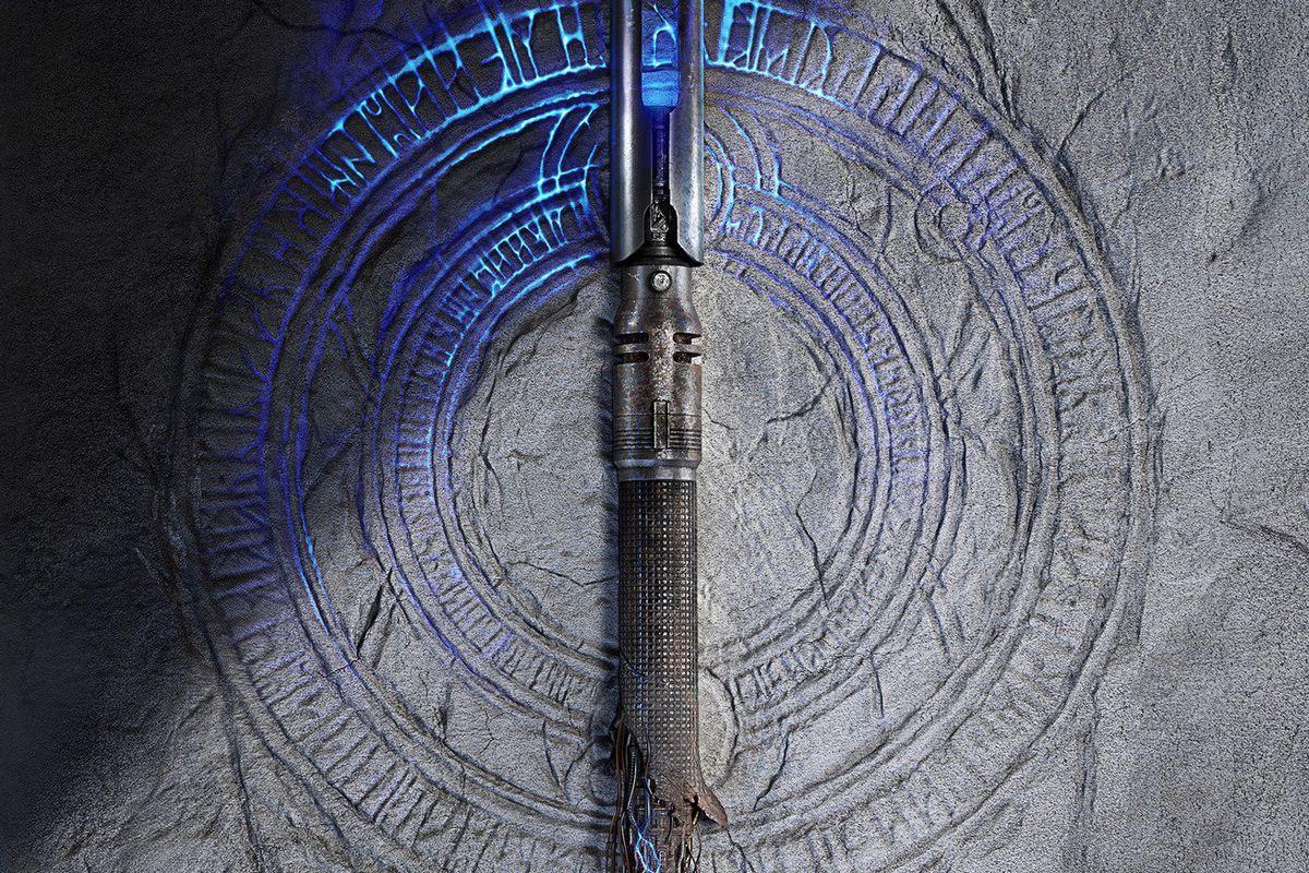Teaser artwork of a broken lightsaber from Star Wars Jedi: Fallen Order
