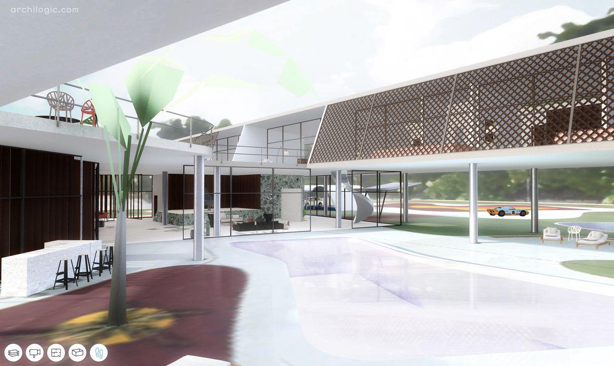 Unbuilt Oscar Niemeyer home in Santa Barbara