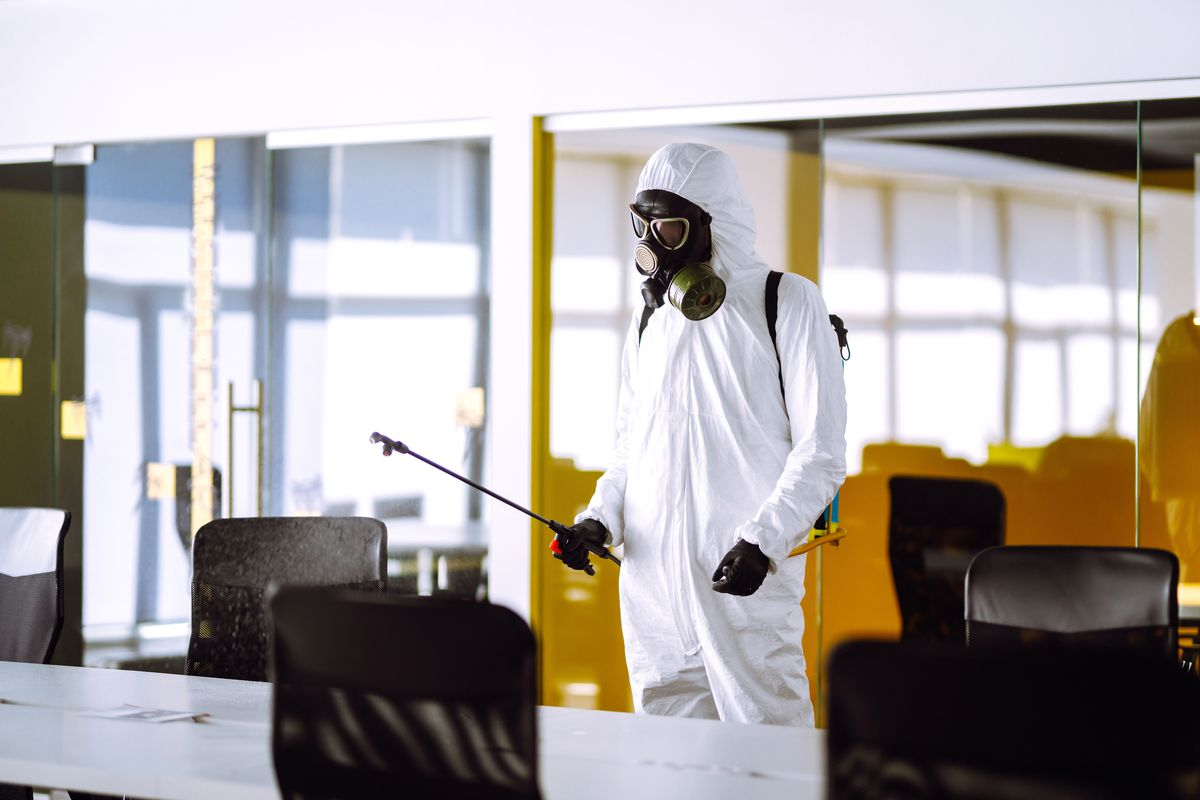 Deep cleaning office spaces to help prevent the spread of the COVID-19 virus is a complex process.