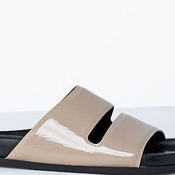 """<b>Céline</b> Flat Double Band Sandal, <a href=""""http://www.celine.com/en/contact"""">Contact to purchase</a>"""