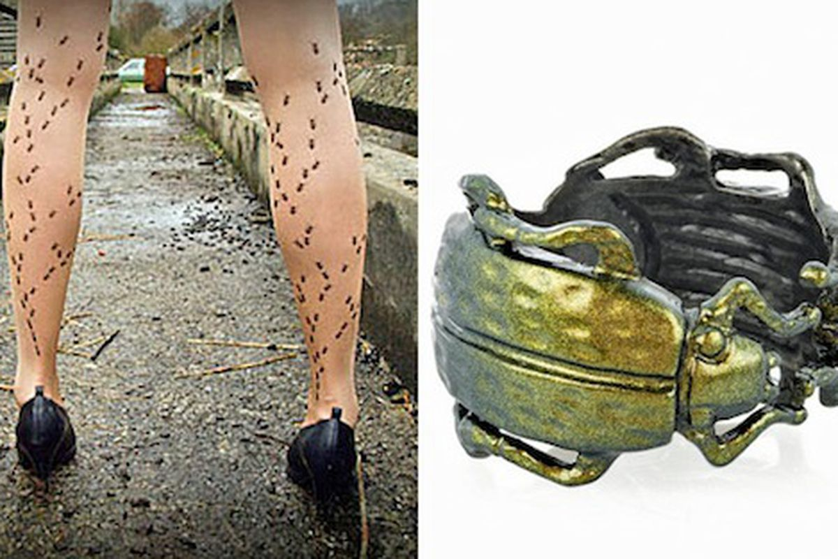 """So apparently 'ants in the pants' is the new must-have accessory. Image via <a href=""""http://www.stylelist.com/2010/08/10/bug-trend/"""">StyleList</a>."""