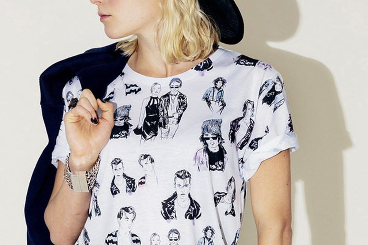 """'90s Johnny Depp tee, <a href=""""http://clashist.myshopify.com/collections/tees/products/90s-johnny-depp-tee"""">$55</a> at Clashist"""