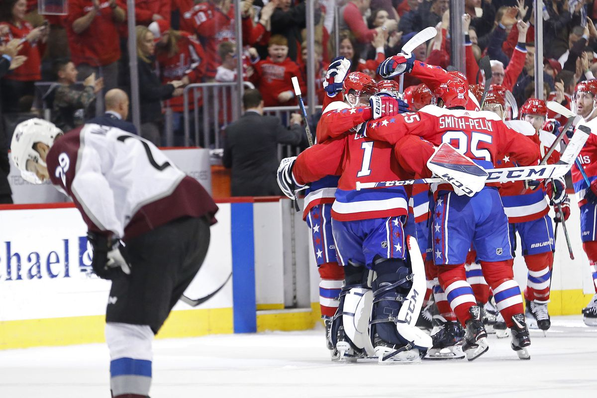57538644e03 Colorado Avalanche fall 4-3 in entertaining comeback overtime loss to the Washington  Capitals Even Tim Peel couldn t save the Avalanche in this one
