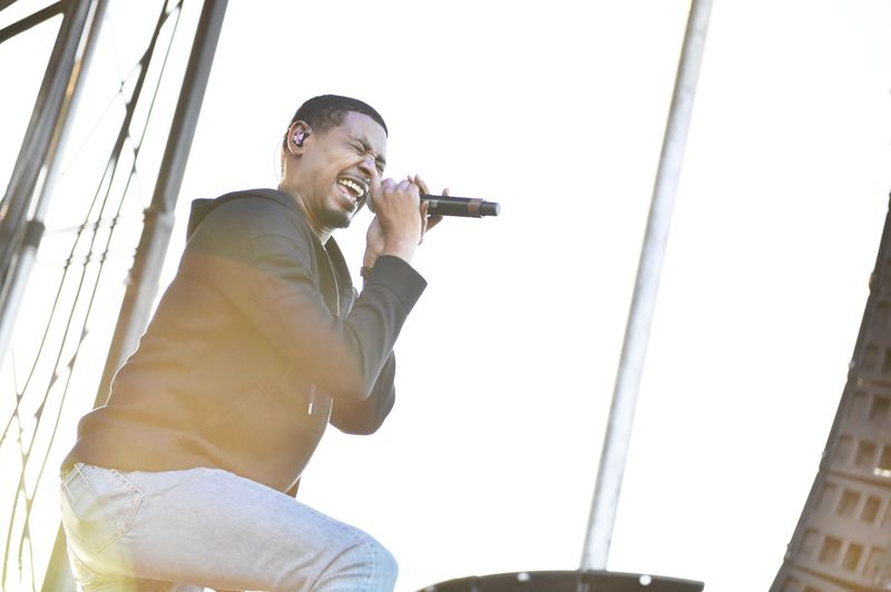 Singer Danny Brown performs at the Growlers 6 festival at the LA Waterfront on October 28, 2017, in San Pedro, California.