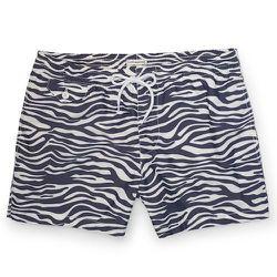 "<strong>Club Monaco</strong> Zebra Arlen Swim Trunk in Azure Blue, <a href=""http://www.clubmonaco.com/product/index.jsp?productId=32855336"">$79.50</a>"