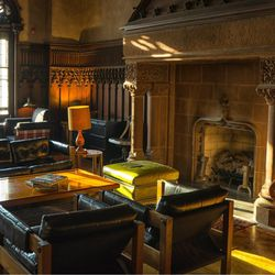 The drawing room hearth at the Chicago Athletic Association, 12 S. Michigan Ave. | Facebook
