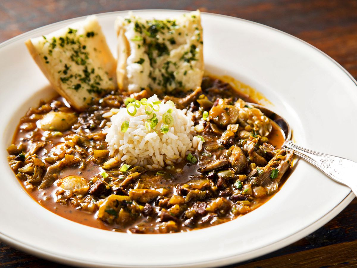 A Bowl Of Gumbo At Pearl Dive Photo