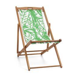 'Boom Boom' teak beach chair, $60