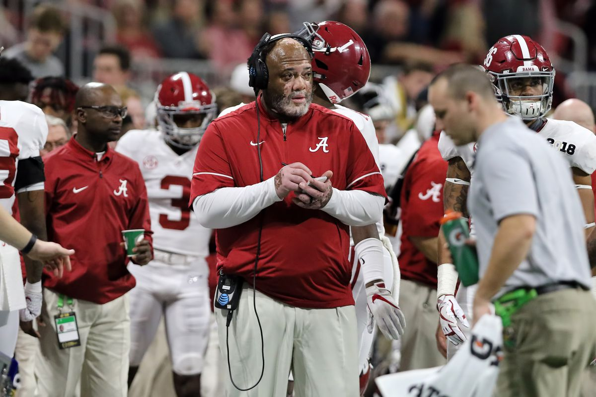Alabama DL coach Karl Dunbar's playbook was stolen from his backpack