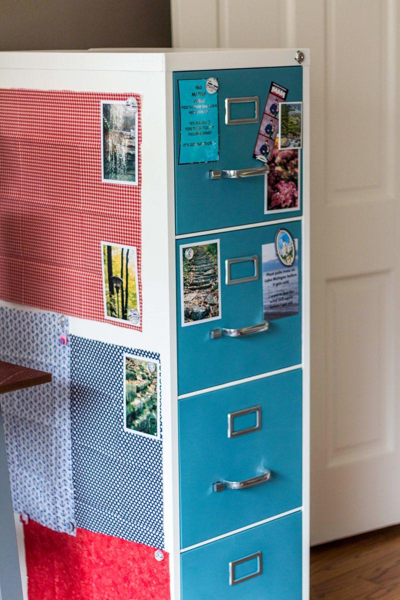 Painted Metal Cabinet