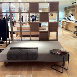Giant ottoman or oddly shaped daybed?  You decide!