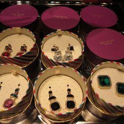 Pre-gift-boxed earrings, $78 by Kate Spade