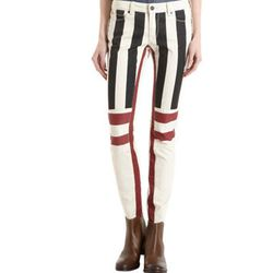 """<b>Genetic Denim</b> Flag Print Skinny Jeans, <a href=""""http://www.barneys.com/Genetic-Denim-Flag-Print-Skinny-Jeans/502619723,default,pd.html?q=flag&index=9"""">$89</a> (from $220) at Barneys"""