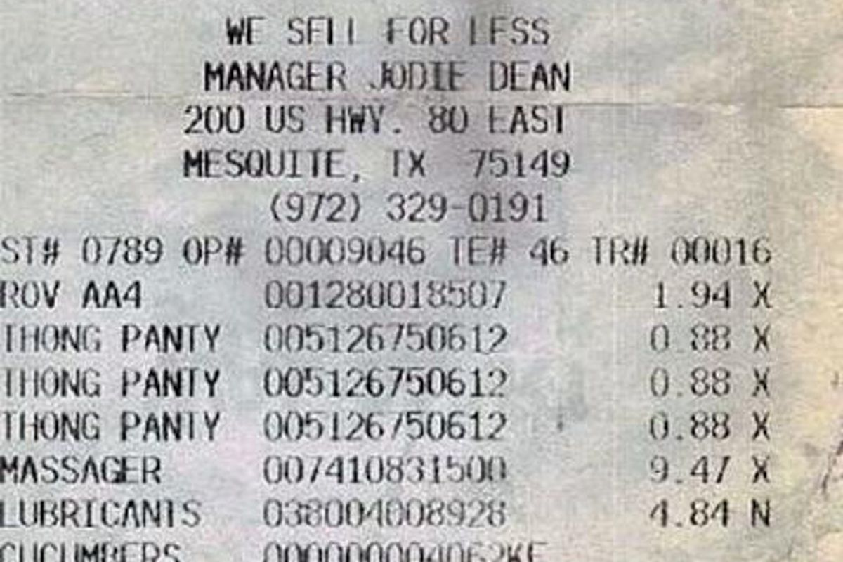 Interesting Walmart Receipt Of The Week More Kate Middleton