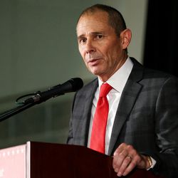 John Curtis speaks in the Republican debate for the 3rd Congressional District race at the Utah Valley Convention Center in Provo on Friday, July 28, 2017.