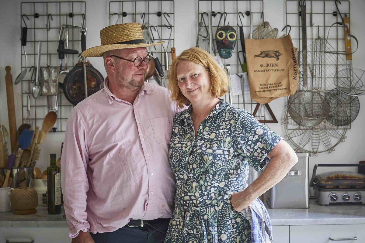 Fergus and Margot Henderson at home, the chefs behind St. John and Rochelle Canteen