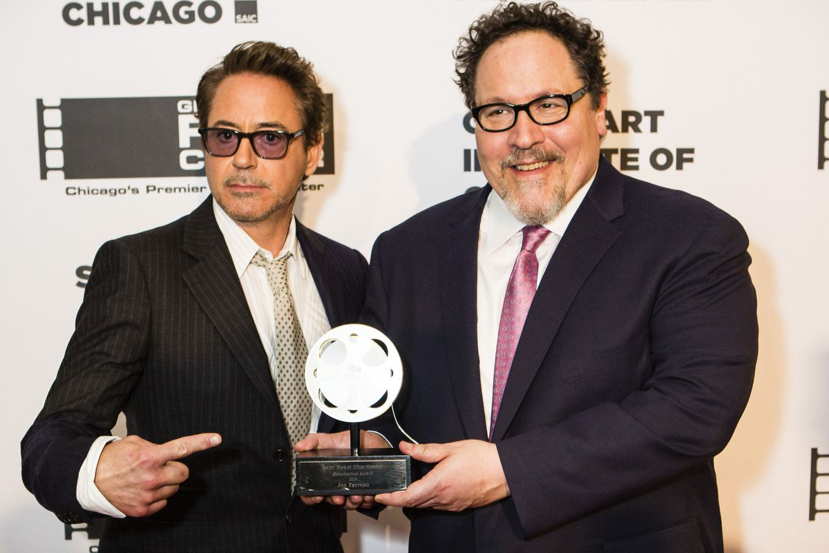 In Chicago, Jon Favreau celebrates his ironclad friendship with Robert Downey Jr.