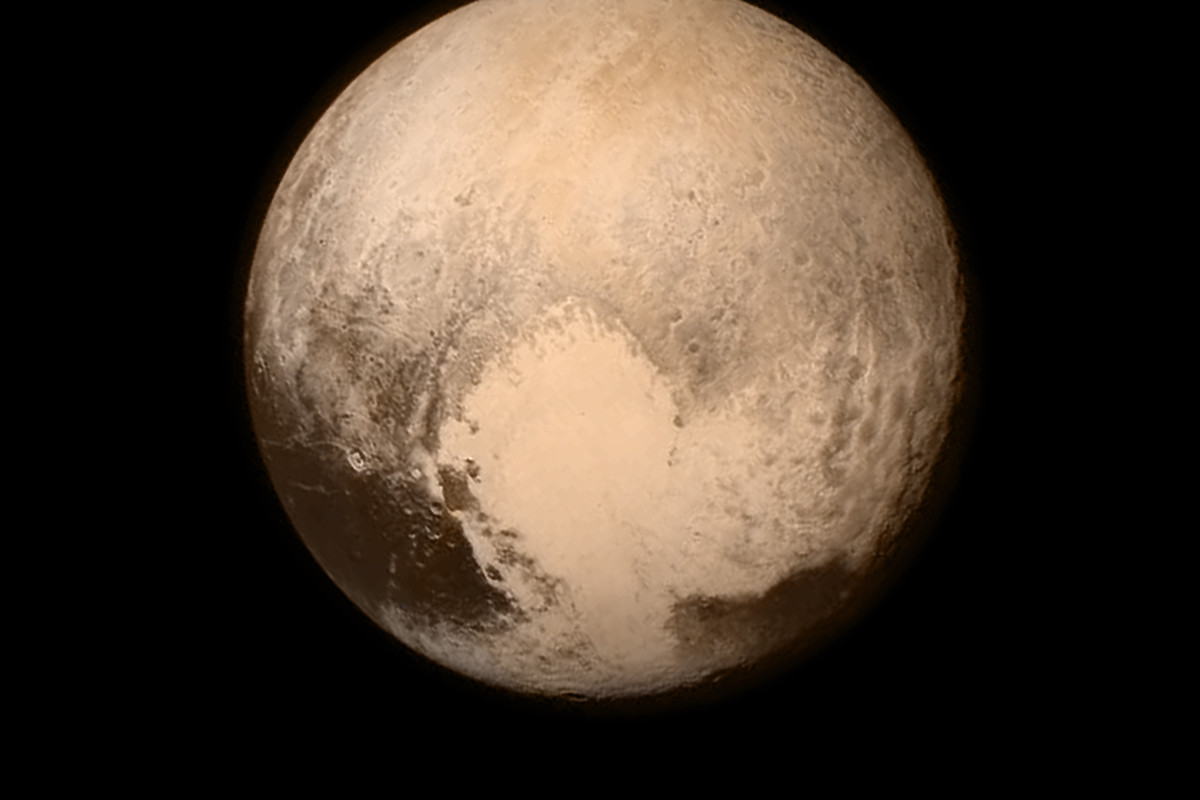Pluto, as seen by New Horizons.