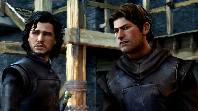 Jon Snow and Gared Tuttle at The Wall in <em>Game of Thrones: A Telltale Series</em>