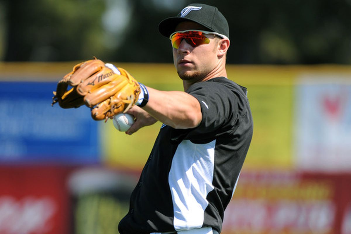 Brett Lawrie will use his glove at second base when he comes off the DL.