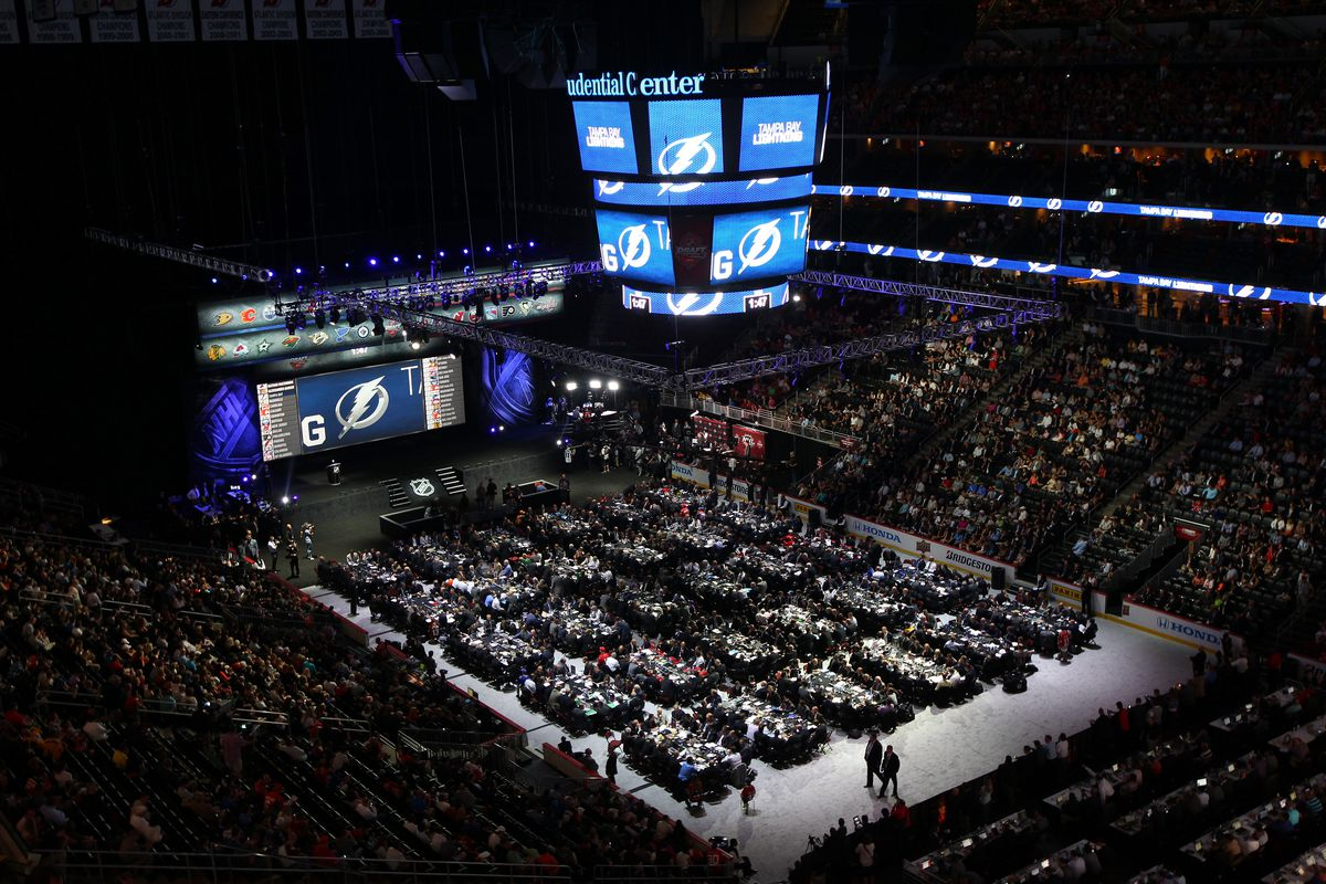 A view inside the 2013 NHL Draft at the Prudential Center in Newark, NJ.