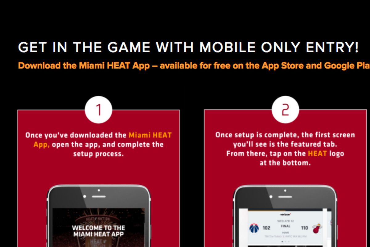 Heat become first National Basketball Association team with mobile-only entry