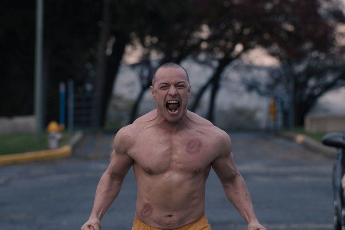 James McAvoy as the Beast in Glass