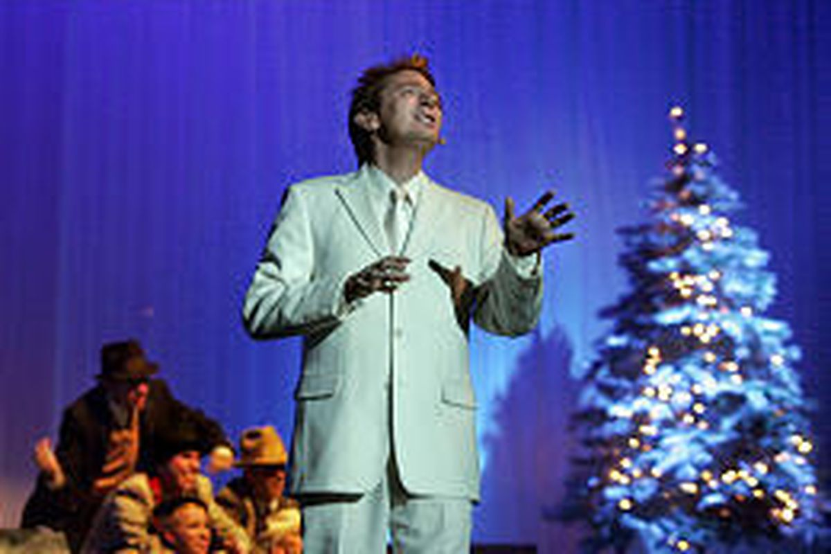 Clay Aiken performs at the Delta Center.