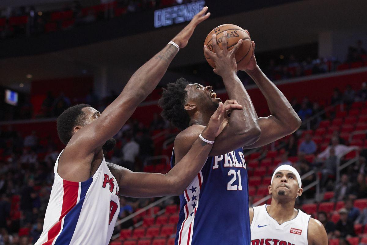 NBA: Philadelphia 76ers at Detroit Pistons