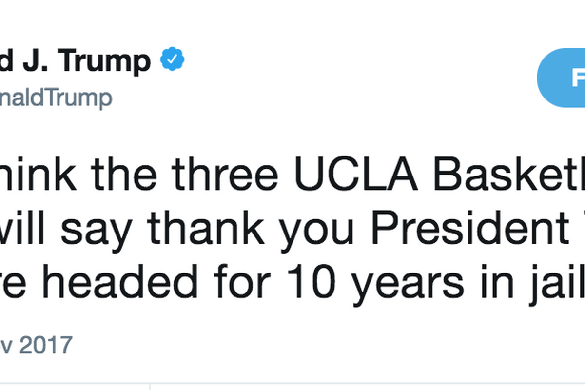 2017 05 a great miracle minnesota company - Donald Trump Demands Credit On Twitter For Freeing Liangelo Ball Ucla Basketball Players From China He Got It Of Course