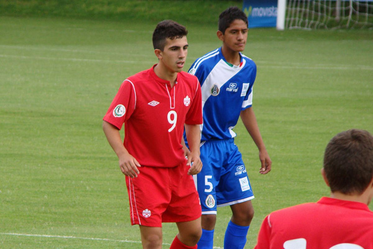 Luca Uccello in action for Canada's U15 squad last summer.