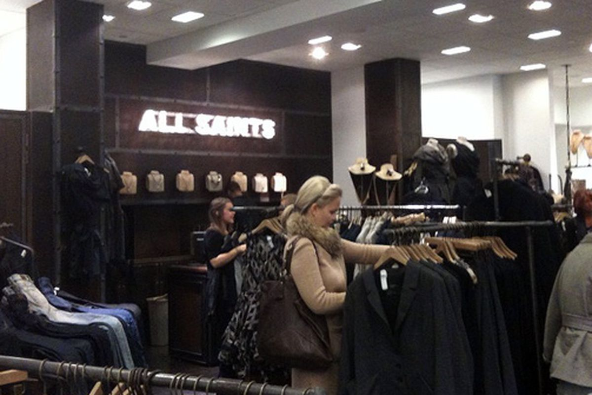 The All Saints Shop-in-Shop At Bloomingdale's