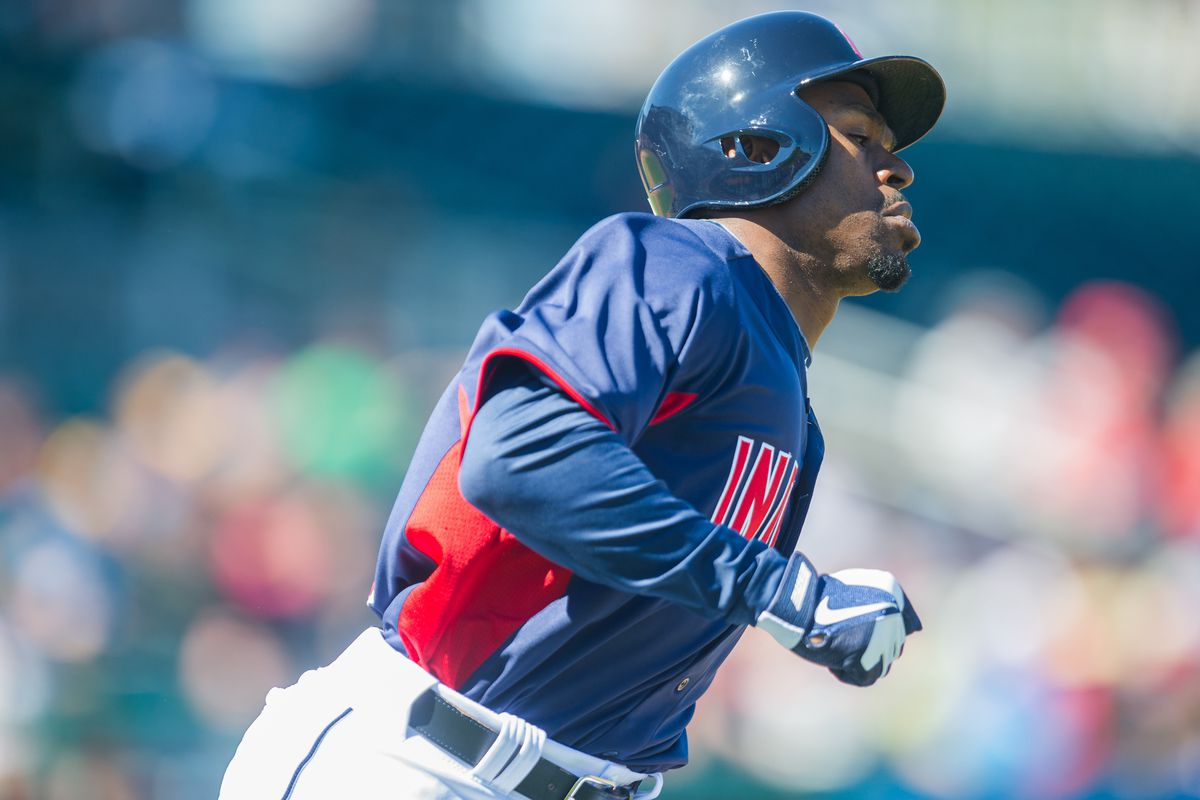 Michael Bourn trots around the bases in his new Tribe uniform