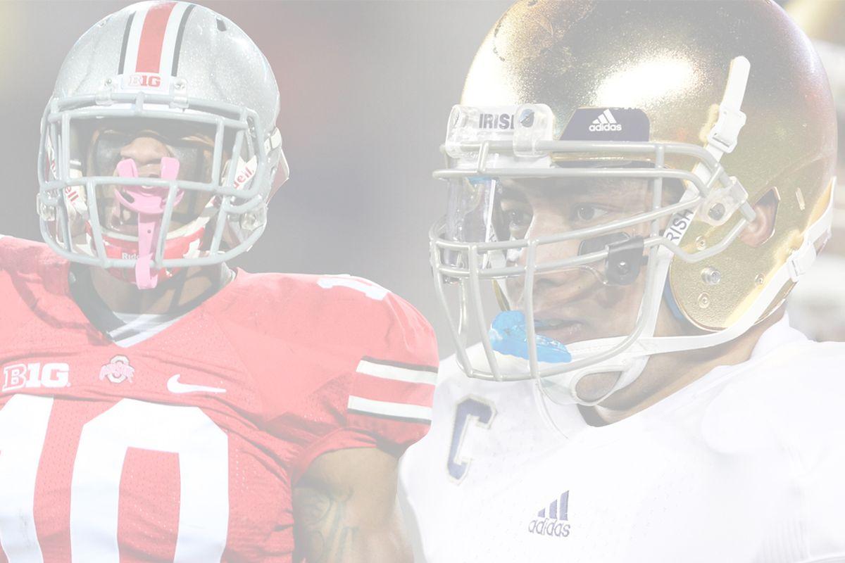 Ohio State's Ryan Shazier vs. Notre Dame's Manti Te'o. Who ya got?