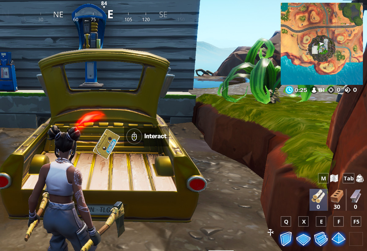 Fortnite Collect The Visitor Recordings On The Floating