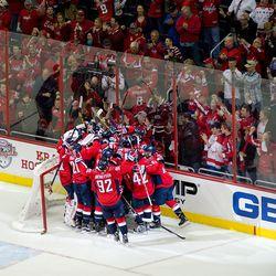 Capitals Celebrate Win