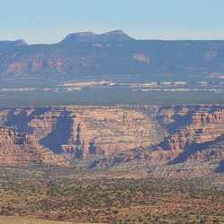 The Bears Ears area as seen from Comb Ridge in southern Utah on Saturday, July 16, 2016.