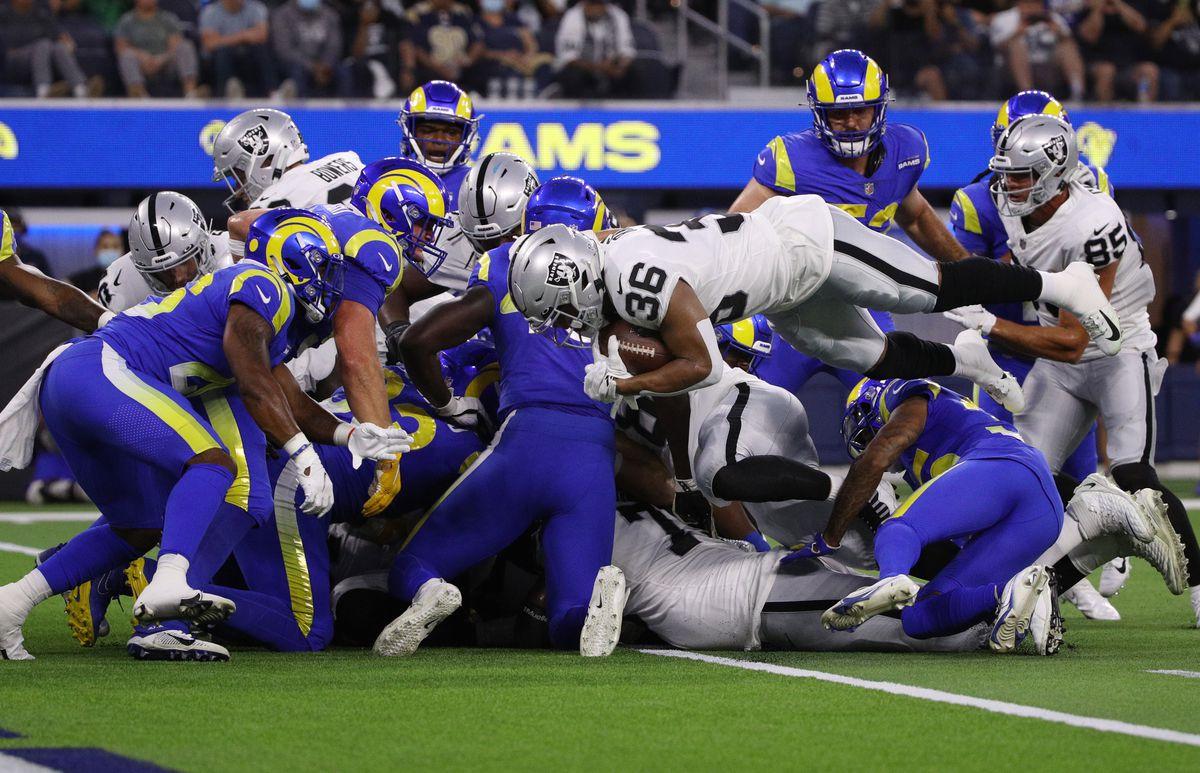 Rams vs Raiders in Inglewood, CA.