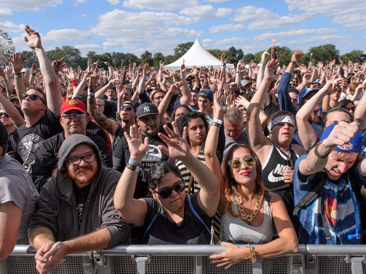 A large crowd at Riot Fest 2015