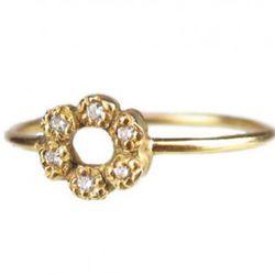 "Elisa Solomon 18K Diamond Ring, <a href=""http://www.stuartandwright.com/Elisa_Solomon_18K_Diamond_Ring_1147.html"" target=""_blank"" rel=""nofollow"">Stuart & Wright</a>, $450"