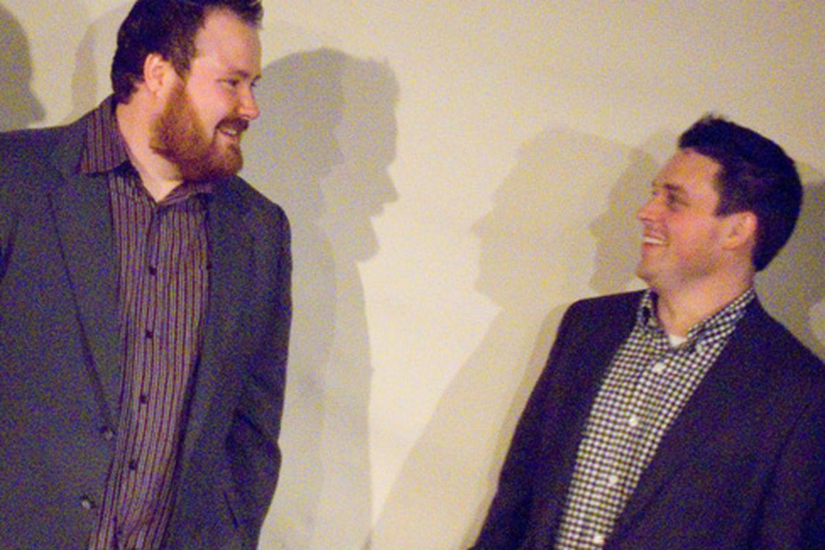 Top Chef Kevin and Gavin Kaysen share an awkward moment.