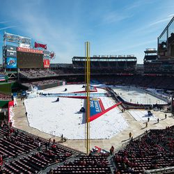 Left Field Foul Pole Stands For Winter Classic