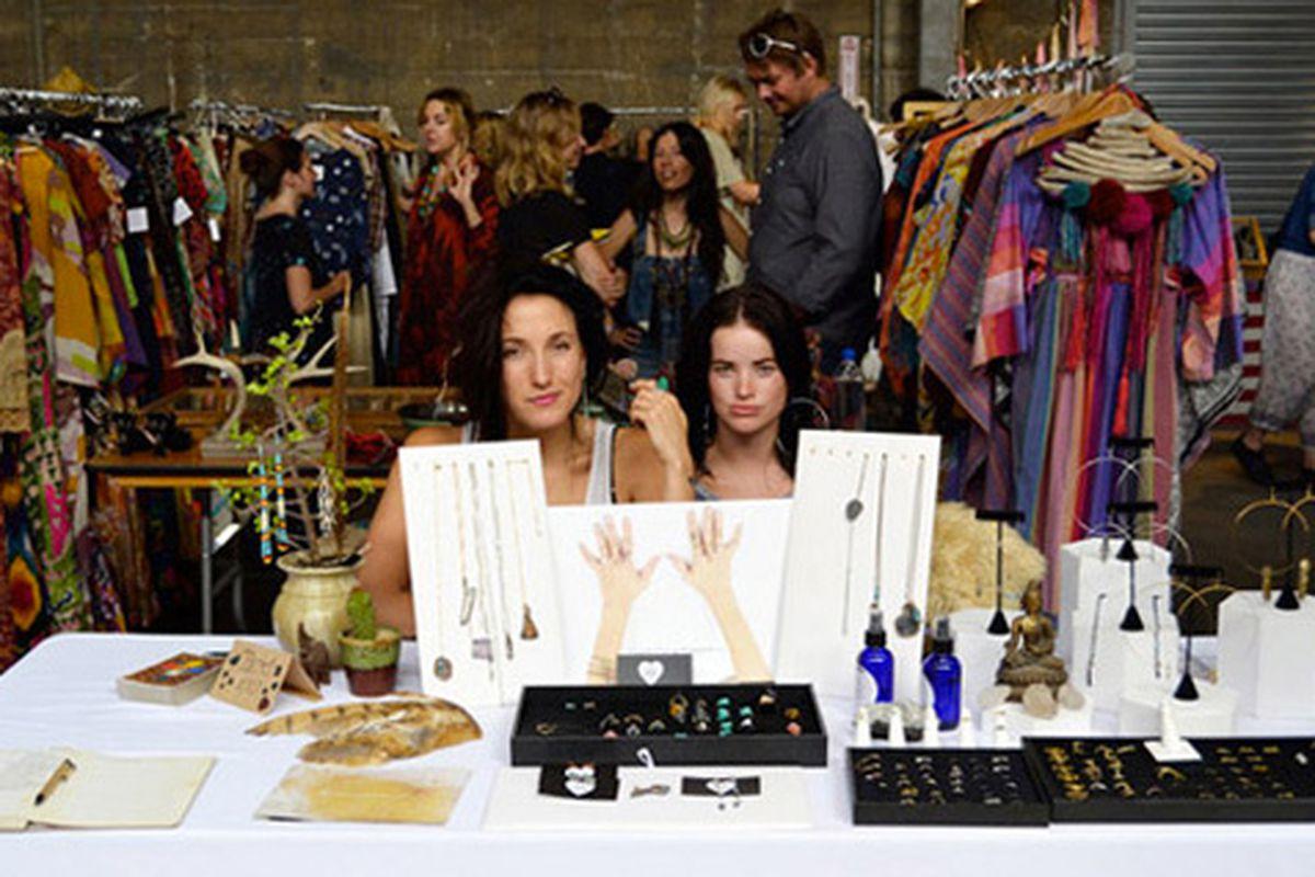 "Jeweler Natalia Benson at last year's fair. Image via <a href=""http://www.lacanvas.com/inside-parachute-market/"">LA Canvas</a>"