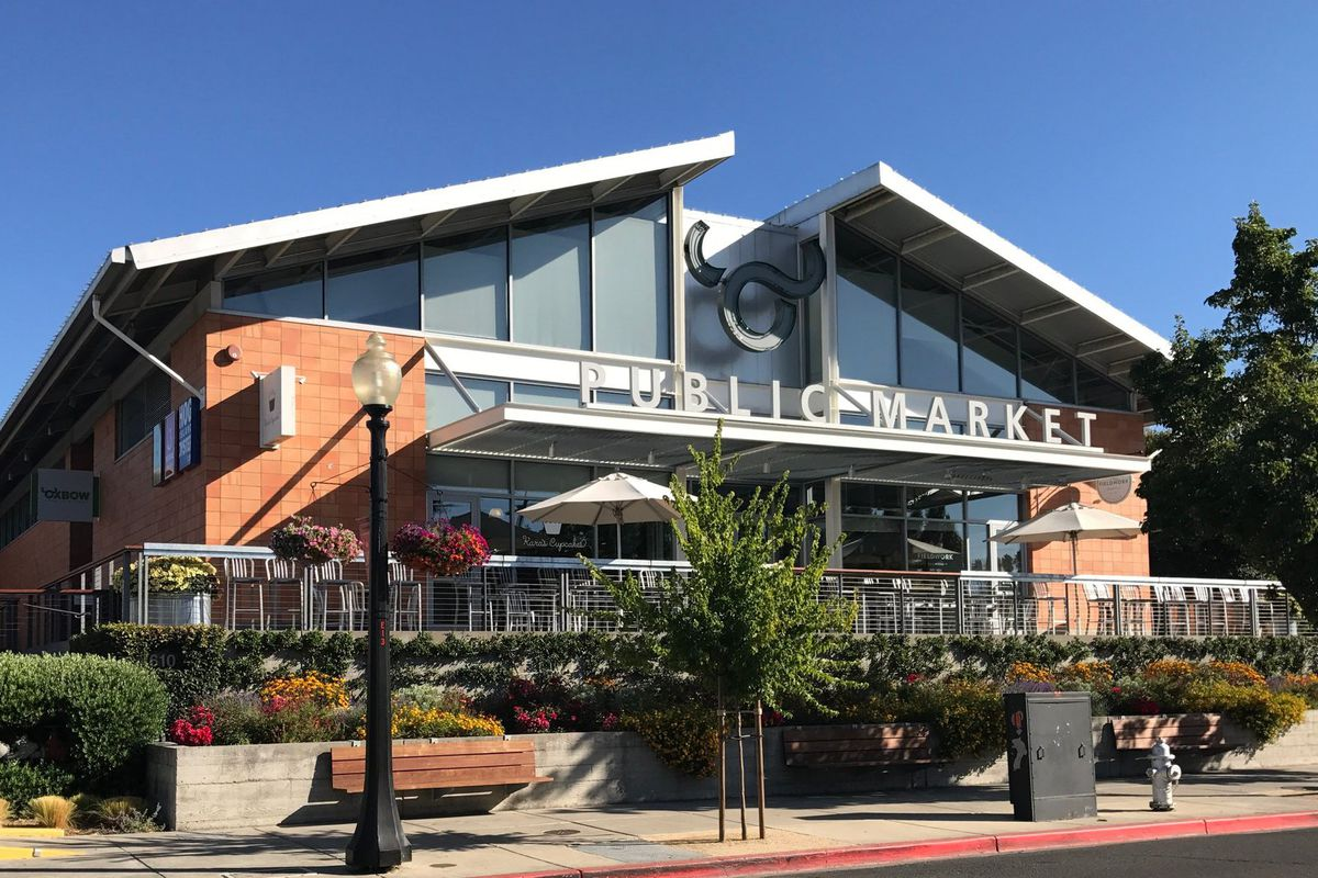 The exterior of Oxbow Public Market in Napa