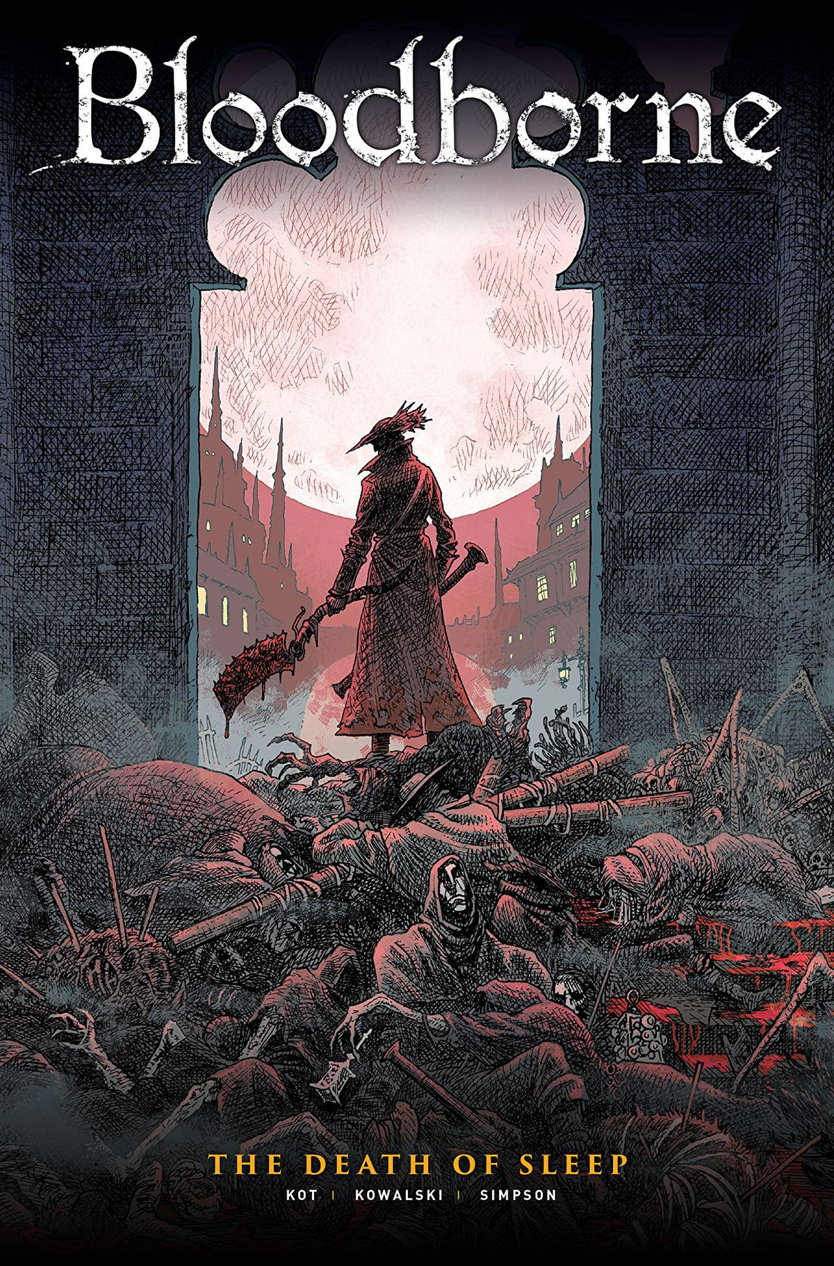 The cover of Bloodborne: The Death of Sleep, from Titan Comics.
