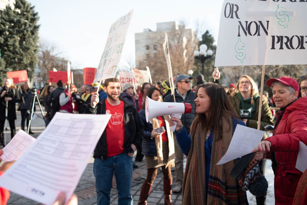 Denver teachers rallied on the steps of the Colorado State Capitol as their union is set to resume negotiations with the district.