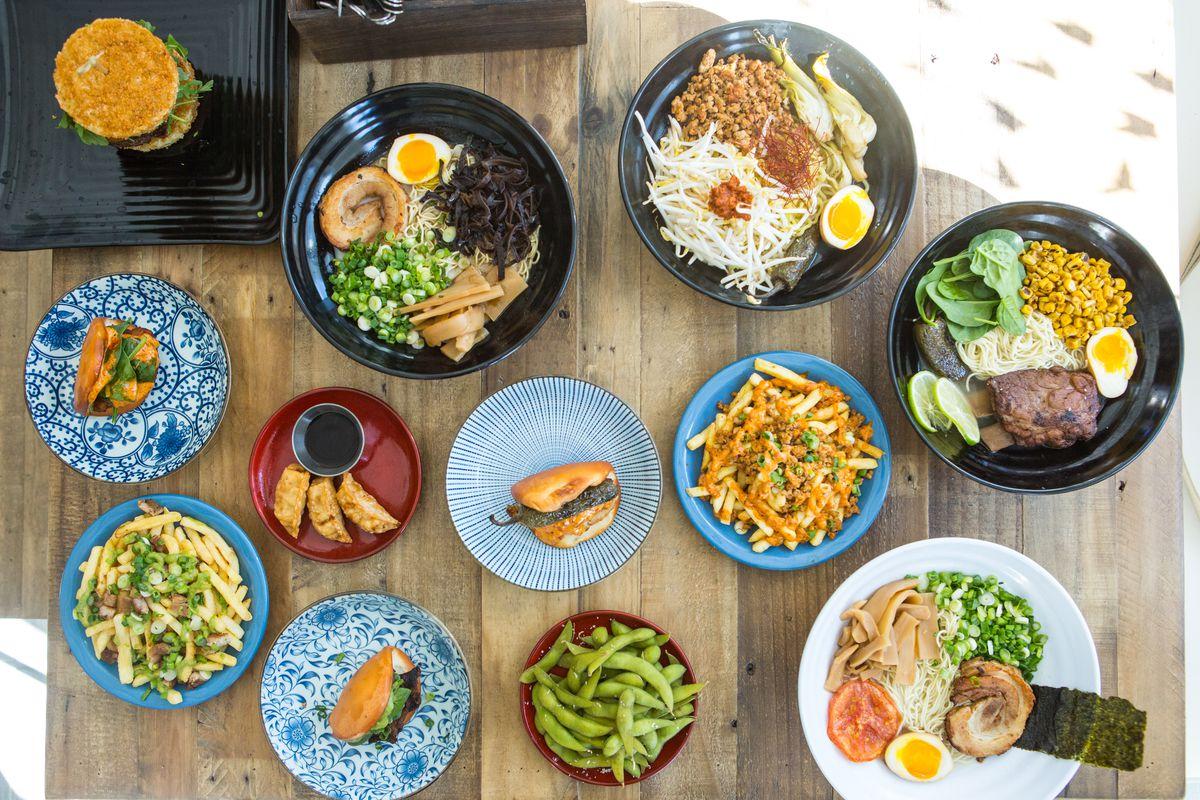 Food at Yoshi Ramen