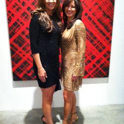 Designer Tanja Pignatelli (left) and muse.