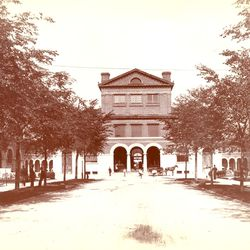 Vintage photo of the Market Square in Pullman. | Sun-Times Archives